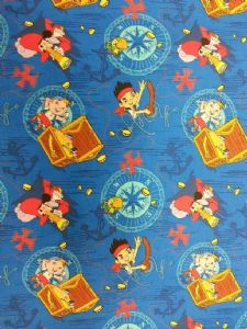 NEW! JAKE AND THE NEVERLAND PIRATES CAPTAIN HOOK - Fabric 100% Cotton - Price Per Metre